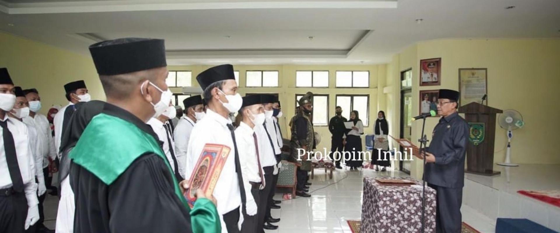 Bupati Inhil HM.Wardan resmikan Ketua Beserta Anggota BPD se Kecamatan Concong