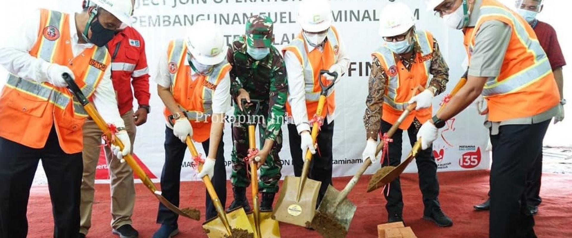Bupati dan Wabup Inhil hadiri pelatakan batu pertama (groundbreaking) pembangunan Fuel Terminal (Terminal BBM) Inhil