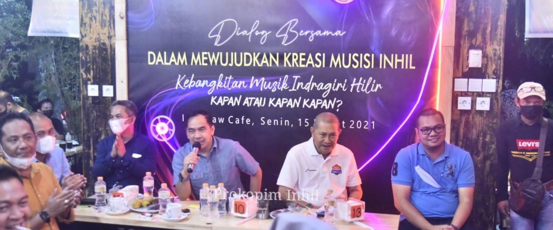 Hadiri acara Dialog bersama kebangkitan musik Inhil, Wabup H.Syamsudin Uti : Bravo! buat anak - anak muda musisi Inhil