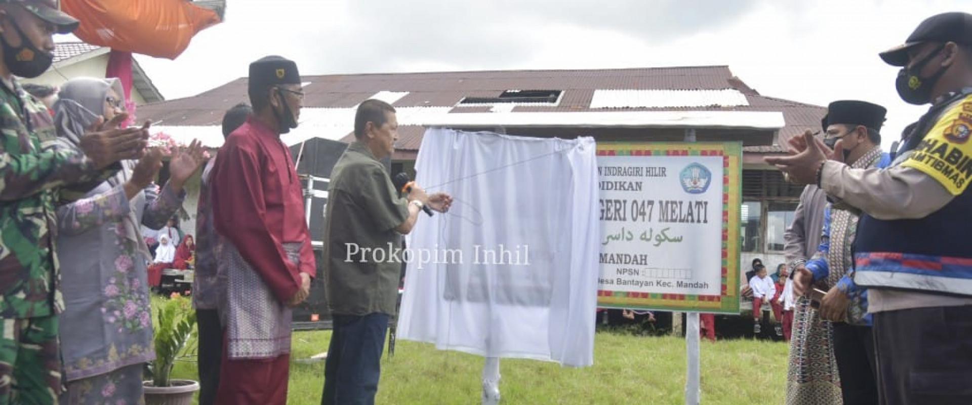 Resmikan Sekolah Dasar Negeri (SDN) 047 Melati, Wabup H.Syamsudin Uti : Jangan enggan berinvestasi di bidang pendidikan