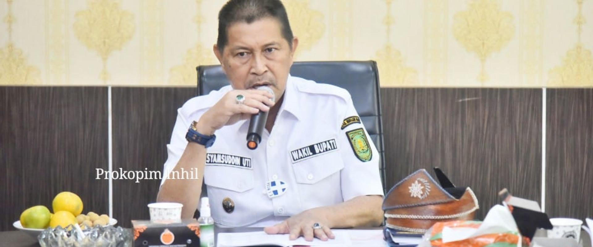 Terima kunjungan FPK provinsi riau, wabup Inhil : semoga hubungan antara FPK provinsi dan FPK Inhil tetap terjalin erat