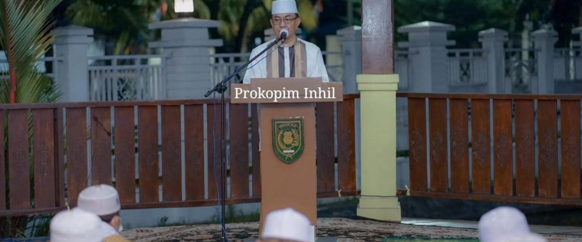 Ikuti gema takbir sambut hari Raya Idul Adha 1442 H, bupati Inhil : kokoh kan ukhuwah islamiyah