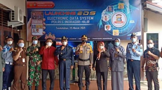 Tingkatkan  Pelayanan Terbaik, Polres Inhil Launching Aplikasi EDS