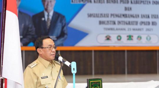 Hadiri pengukuhan POKJA Bunda PAUD Kabupaten Inhil, Bupati HM. Wardan :  komitmen Pemerintah dalam menjamin terpenuhinya hak tumbuh kembang anak